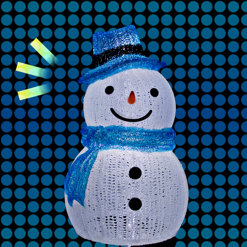 LED イルミネーション ムービング スノーマン 雪だるま
