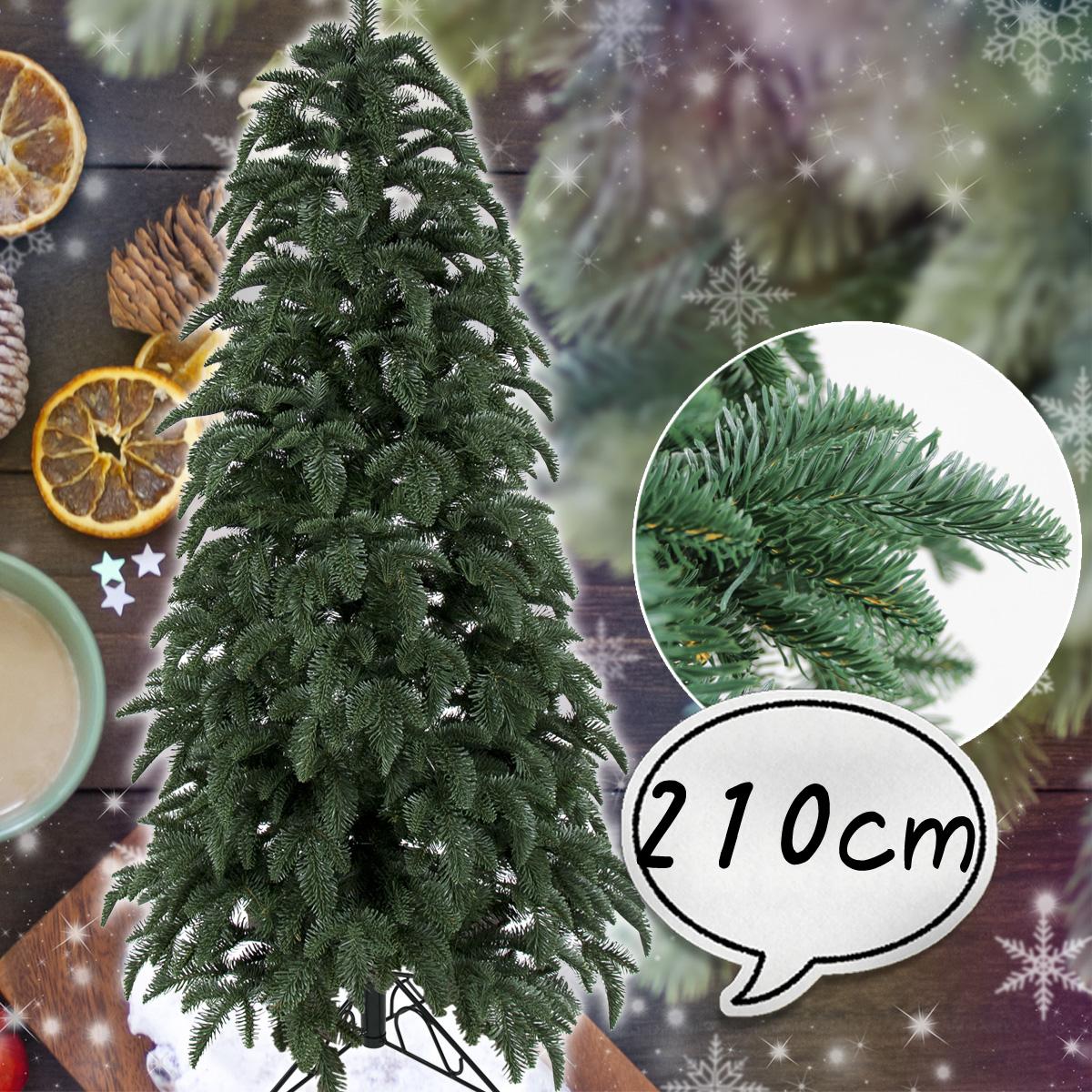 クリスマスツリー 210cm リアルスプルース 葉は本物のような肉厚のある ポリ成形ツリー 木 スタンドタイプ 北欧 おしゃれ 【10月中旬入荷予定】