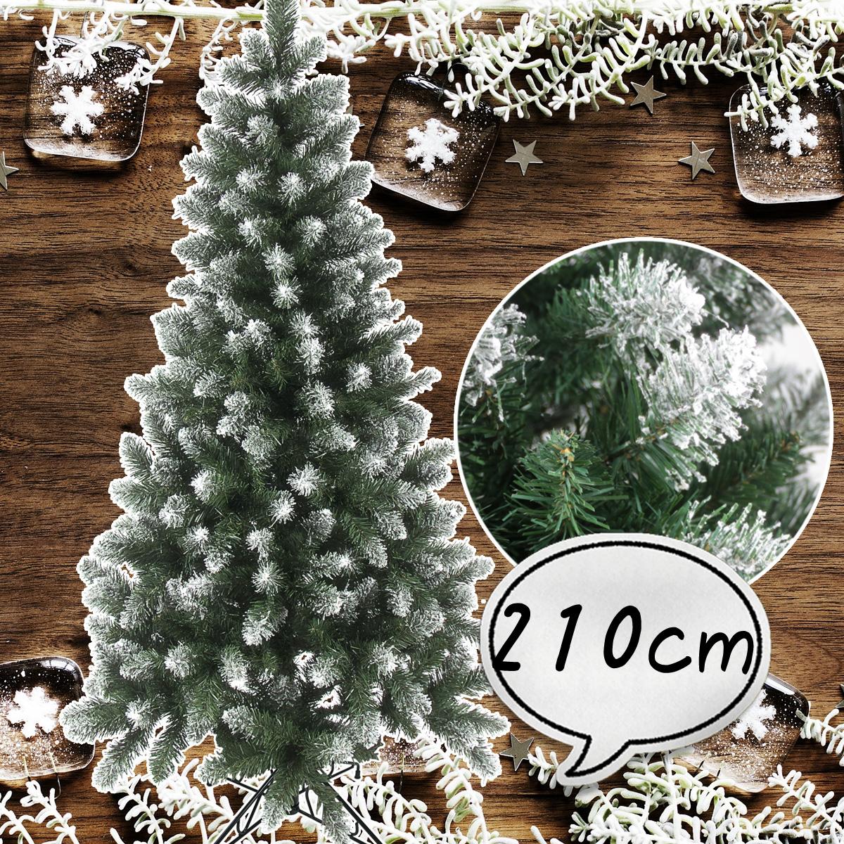 クリスマスツリー 210cm 雪付き ポイントスノーツリー グリーン ツリーの木 [ ヌードツリー ] 北欧 おしゃれ 【10月中旬入荷予定】