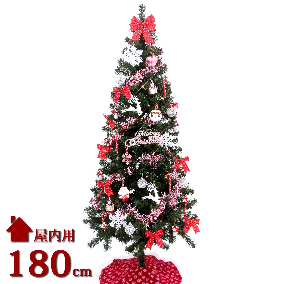 クリスマスツリーセット 180cm LED ノルディック ツリーセット オーナメント付きクリスマスツリー 北欧 おしゃれ