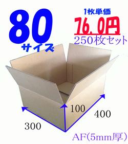 【大口】80サイズ ダンボールB(段ボール250枚セット) 400×300×100  j4yv3qd9