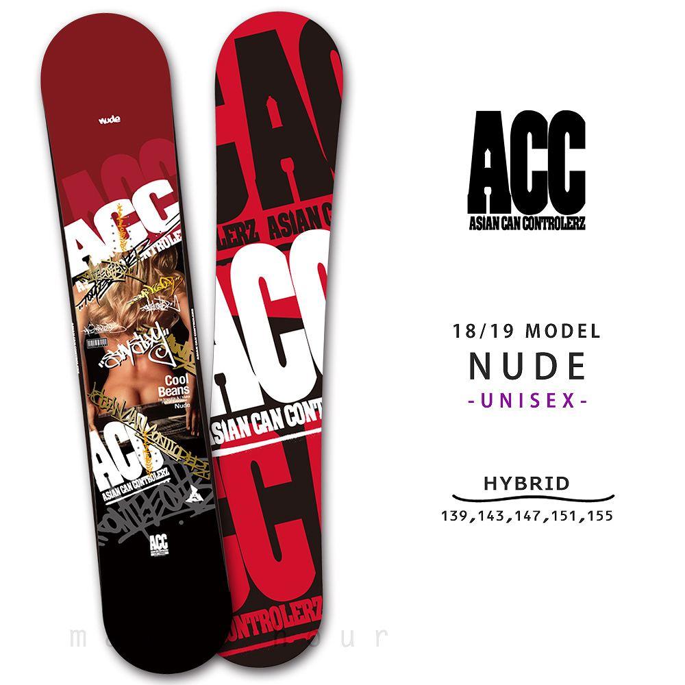 スノーボード 板 メンズ レディース 単品 2019 ACC エーシーシー NUDE グラトリ ハイブリッド イージー キャンバー ボード パーク かっこいい 黒 レッド 赤