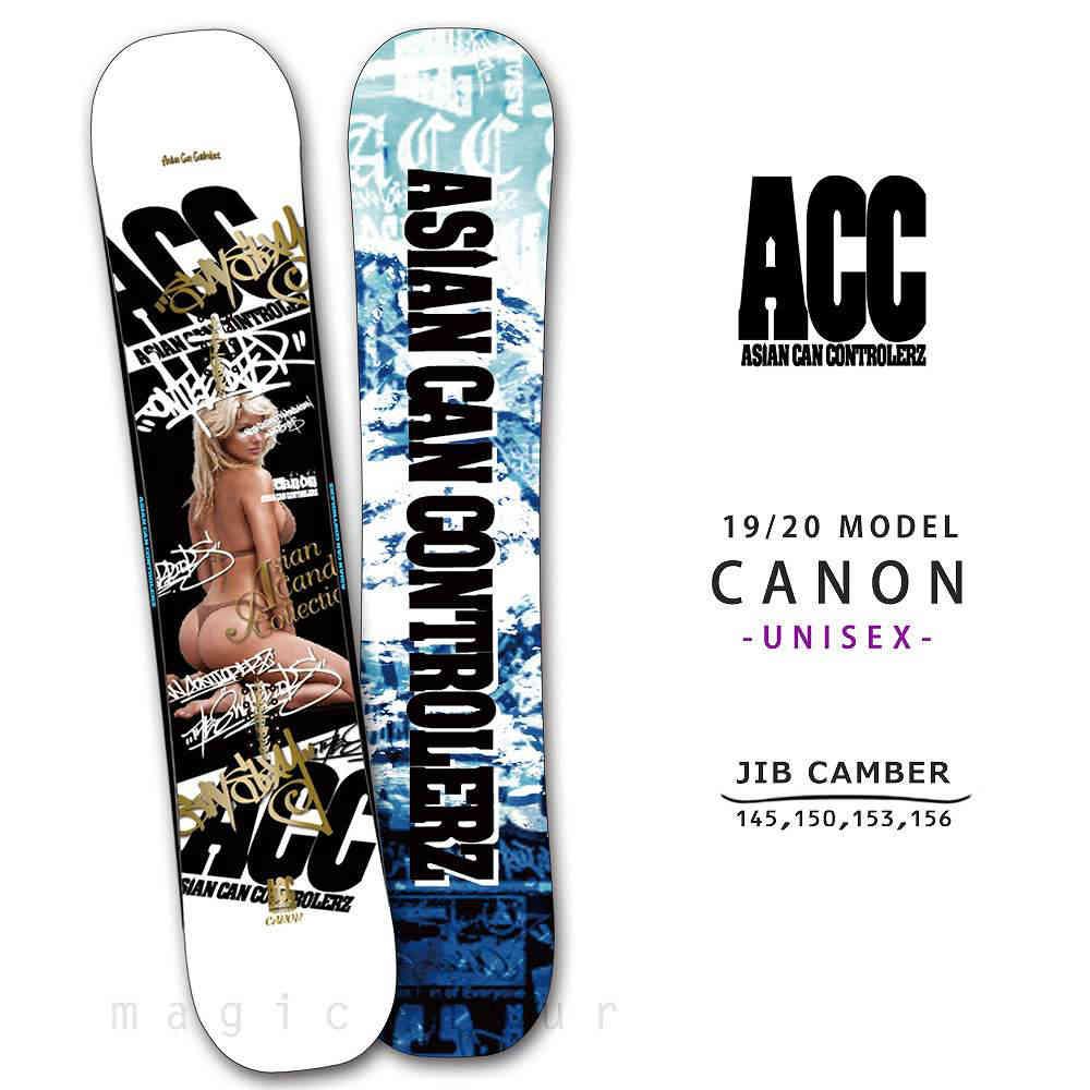 スノーボード 板 メンズ 単品 2020 ACC エーシーシー CANON グラトリ ジブ向け ツインチップ ロー キャンバー ボード パーク かっこいい 白 ホワイト