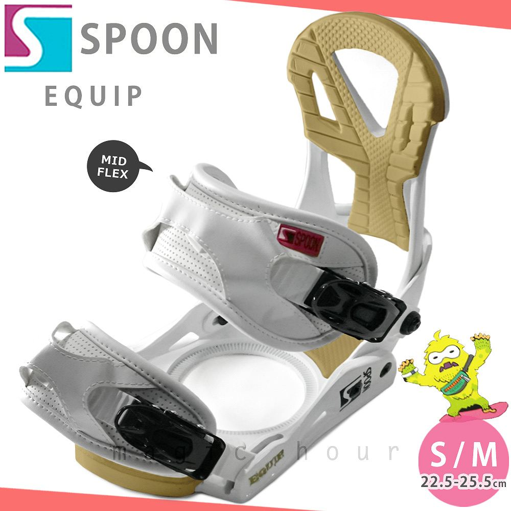 スノーボード ビンディング スノボー バインディング メンズ レディース SPOON スプーン EQUIP ボード 19-20 グラトリ 軽量 赤 無地 / 板と同時購入で取付無料