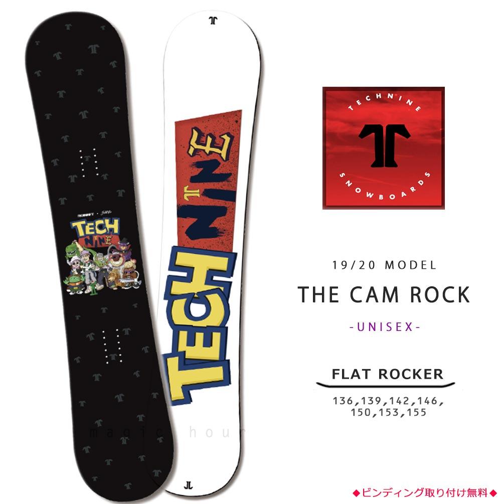 スノーボード 板 メンズ レディース 単品 2020 TECH NINE テックナイン THE CAM ROCK フラット ロッカー ツイン グラトリ パーク かわいい トイストーリー