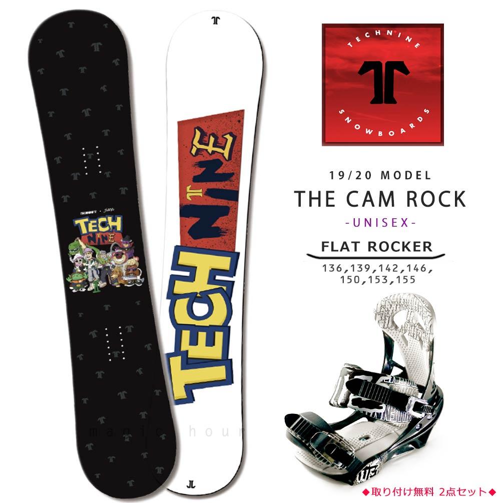 スノーボード 板 メンズ レディース 2点 セット 2020 TECH NINE テックナイン THE CAM ROCK フラット ロッカー グラトリ パーク かわいい トイストーリー 黒