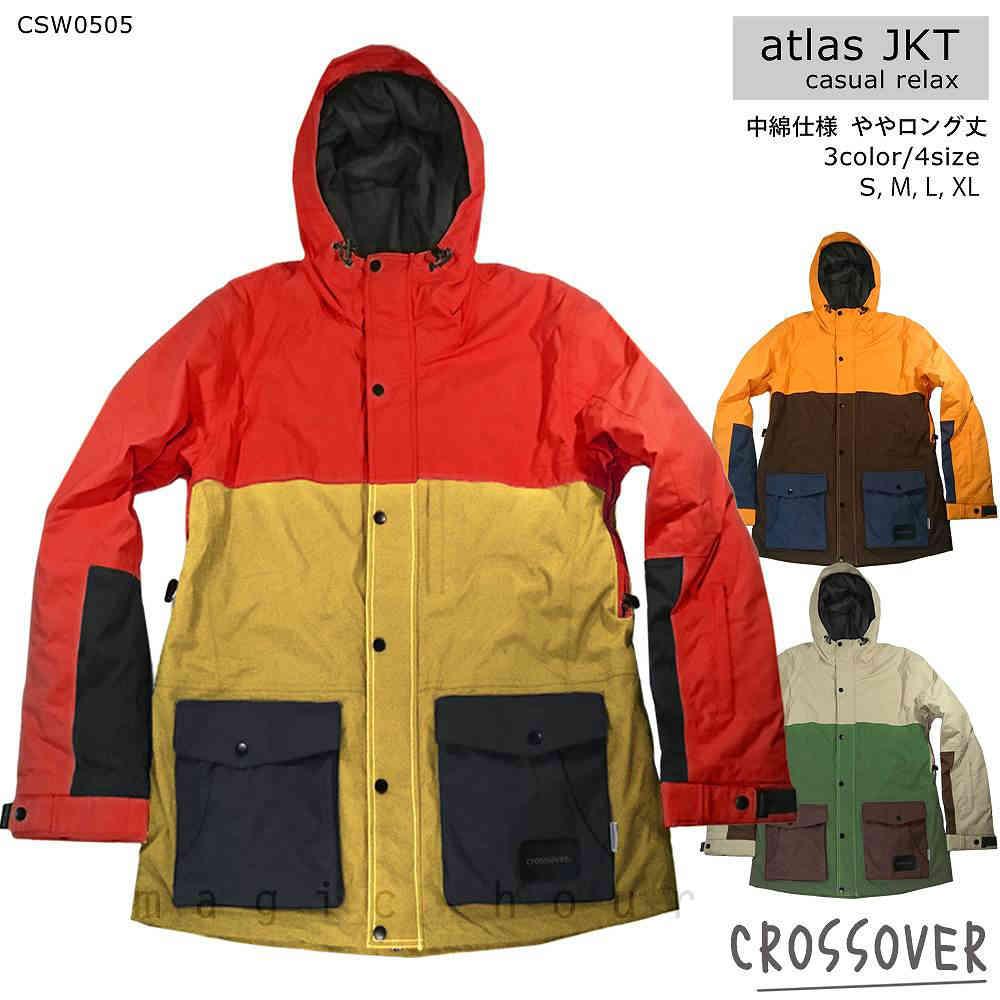 スノーボード スノボー ウェア メンズ レディース スリム 細身 ジャケット 上 crossover クロスオーバー atlas jacket CSW0505 無地 切り替え