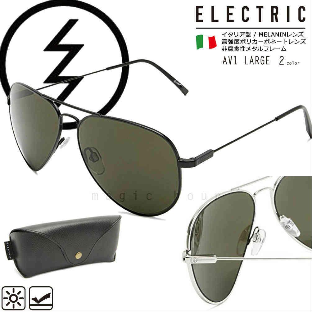 ELECTRIC エレクトリック UVカット サングラス メンズ レディース ブルーライト レンズ 黒 シルバー ティアドロップ レトロ おしゃれ ブランド イタリア製