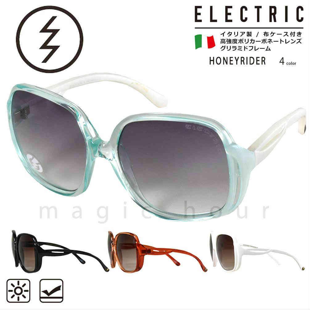 ELECTRIC エレクトリック UVカット サングラス メンズ レディース UVカット レンズ ラウンドフレーム おしゃれ ブランド スポーツ ケース付 イタリア ブラック