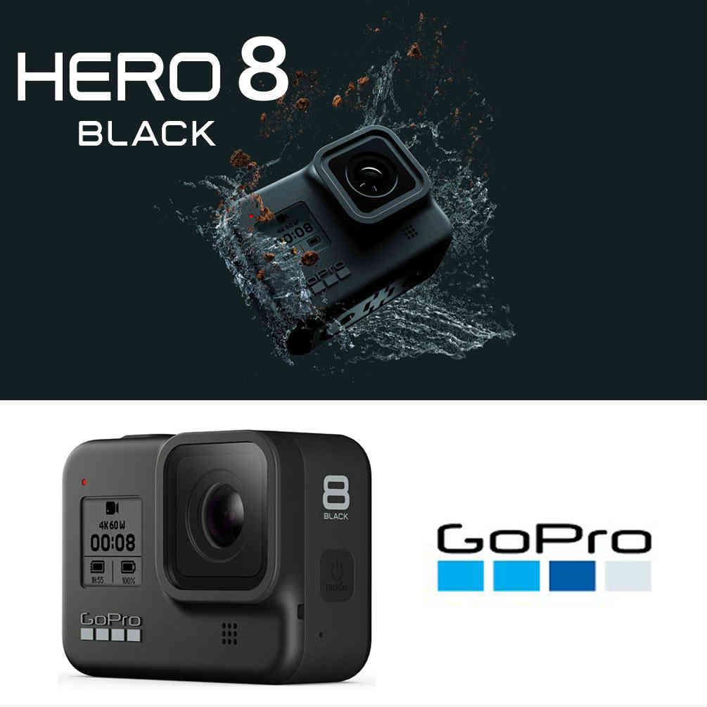 GoPro HERO8 ゴープロ 8 ビデオ カメラ アクションカム スノーボード サーフィン アウトドア スポーツ 防水 手ぶれ補正 4K動画 アクセサリー 黒 ブラック 黒