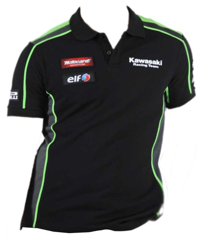 スーパーバイクファクトリー カワサキレーシングポロシャツ18 イタリアデザイン kawasaki monsterenergy