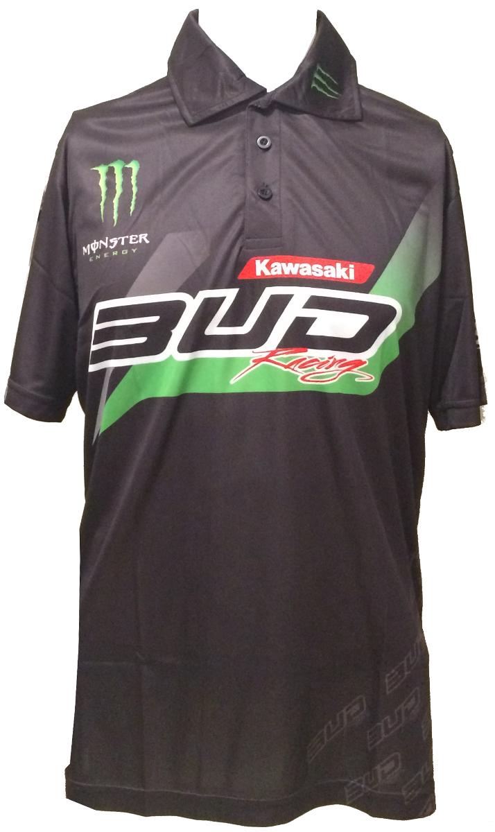 モンスターエナジー バドレーシングカワサキ ポロシャツ16 フランスデザイン kawasaki monsterenergy