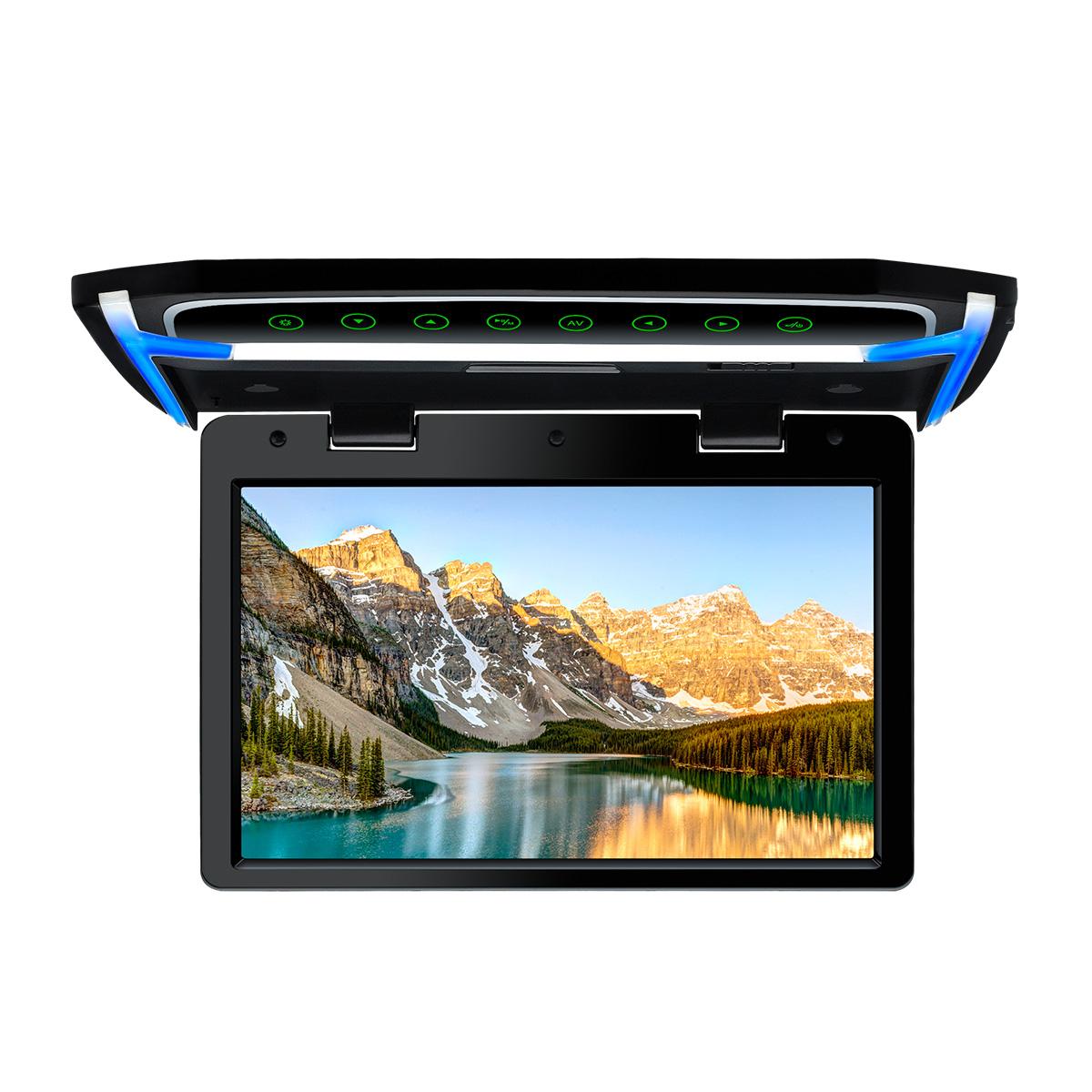 (CM101HD)XTRONS 最新 10.2インチ フリップダウンモニター 1024x600 解像度 超薄 HDMI対応 1080Pビデオ対応 MP5対応 外部入力 ドア連動 水平開閉180度 USB・SD