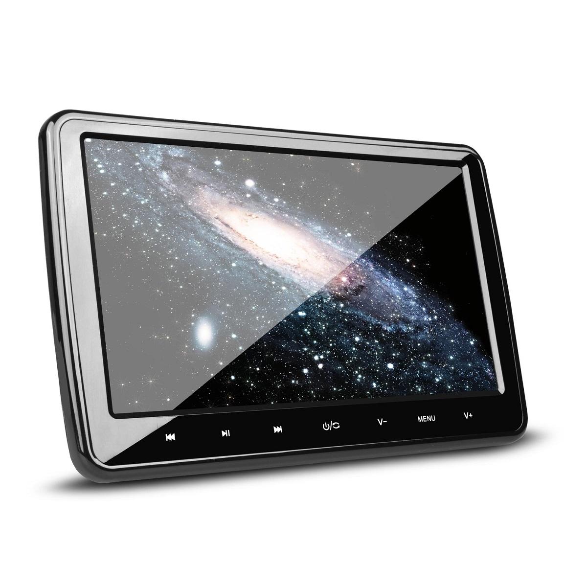 (HD101)XTRONS 10インチ ヘッドレストモニター DVDプレーヤー HDMI連動 高画質 大画面 軽量 薄型 取付0円 ゲーム USB・SD 1個1セット 一年保証付き