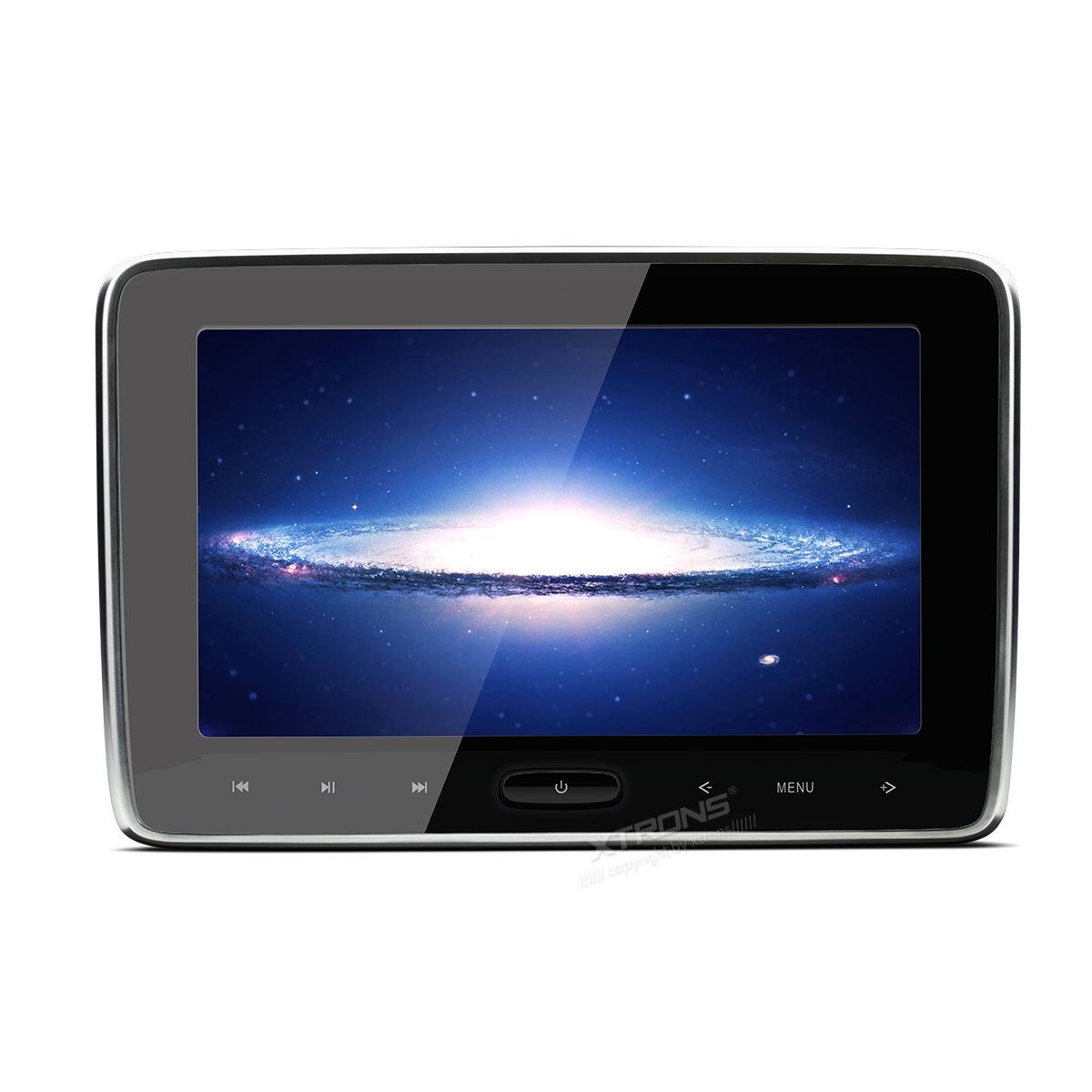 (HD106)XTRONS 10インチ 大画面 高解像度 ヘッドレストモニター DVDプレーヤー 軽薄 取付0円 ゲーム HDMI・USB・SD 1個1セット 一年保証付き
