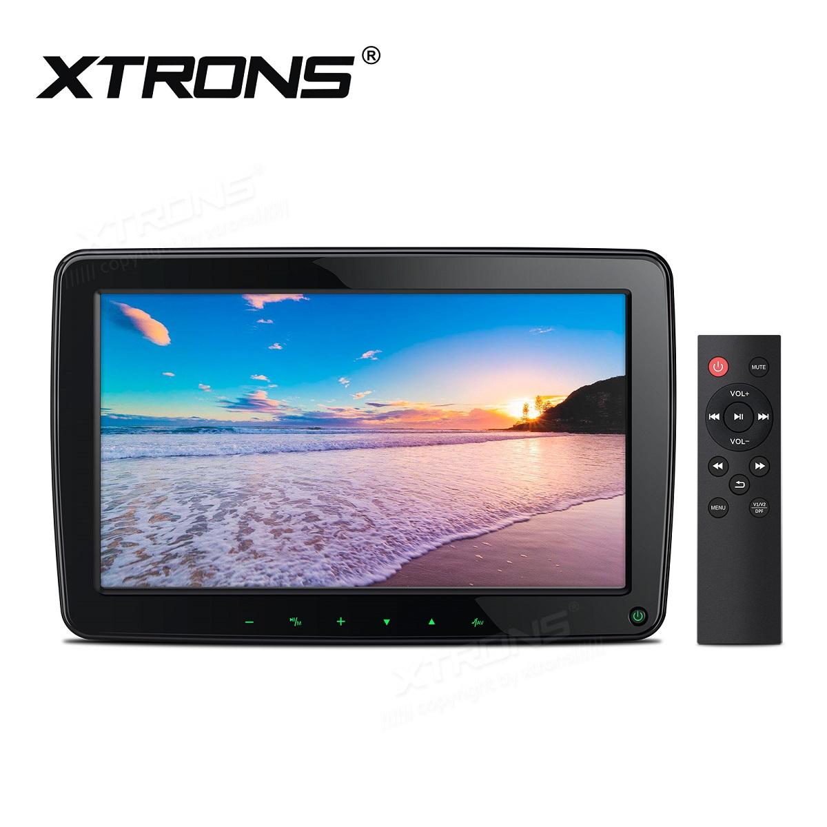 (HM117HD) XTRONS ヘッドレストモニター IPS大画面 フルHD 広視野角対応 11.6インチ 1366*768高画質 HDMI機能 1080Pビデオ再生 エンジン連動 1個セット
