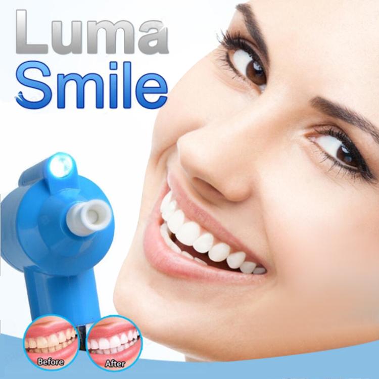 歯 ホワイトニング みがき 研磨 ステイン リムーバ- 白い 簡単 LED ライト付 歯磨き粉 セルフ 安全 SMILMA 日本郵便送料無料K100