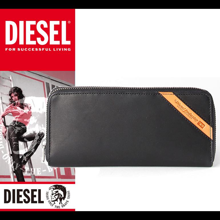 ディーゼル DIESEL 長財布 メンズ 財布 本革 ラウンドファスナー X04142 PR227 8013 ブラック