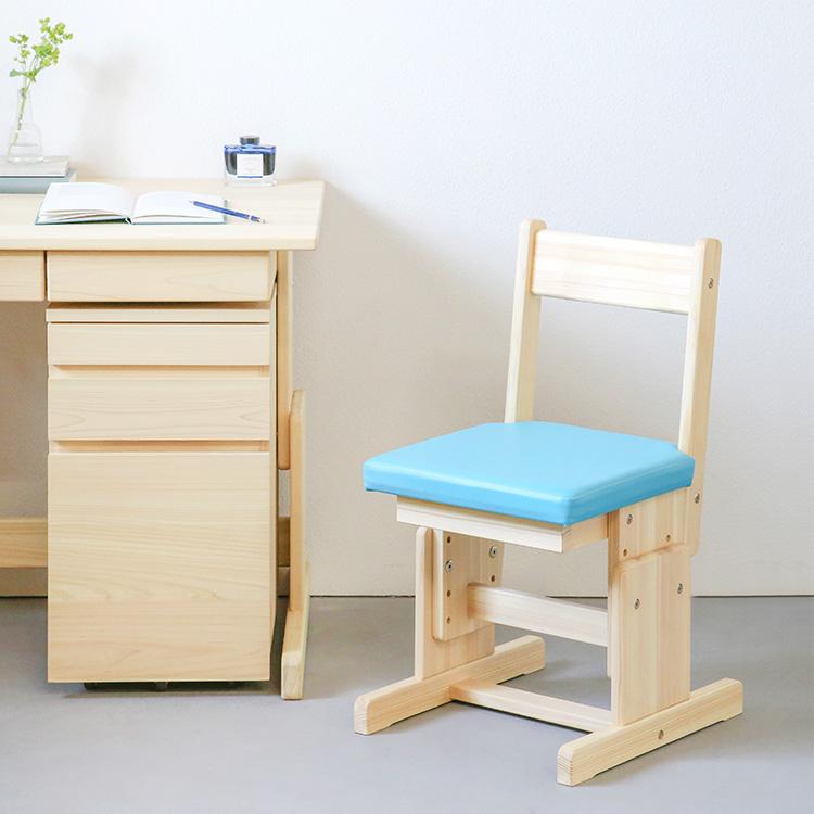 座面のカラーラインナップが豊富な学習椅子 学習用チェア 学習椅子 学習机 お気に入り シンプル 国産 ひのき カラー2本脚チェア 木製 購入 無垢材