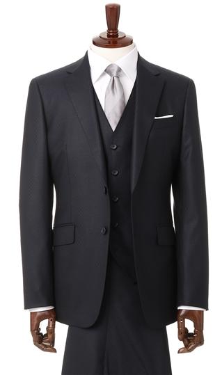 送料無料 オールシーズン用 ネイビー系 スタイリッシュスーツ FOR 定価 PERSON'S 直営限定アウトレット MEN スリーピース