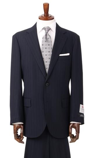 春夏用 ネイビー系 プレミアムスタンダードスーツ 長大スーパーテックス使用 Row 引き出物 軽量 店 Savile