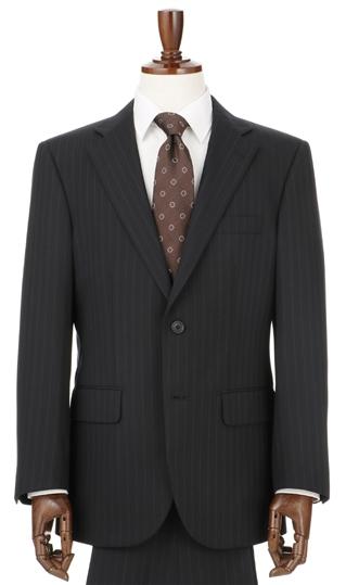 送料無料 秋冬用 ブラック系 ウォッシャブル 形状記憶プリーツ STUART スタンダードスーツ KENT 超激安 売却