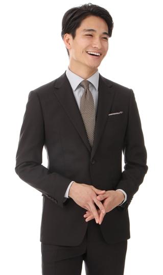 春夏用 ブラウン系 【イタリア製生地使用】【ストレッチ】【アクティブムーブ】スタイリッシュスーツ PERSON'S FOR MEN