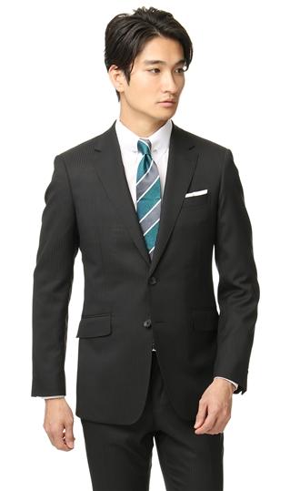 オールシーズン用 ブラック系 スタイリッシュスーツ PERSON'S FOR MEN