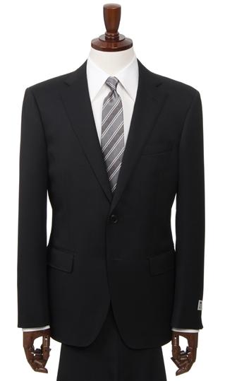秋冬用 ブラック系 【就活】【ブラック無地】【ストレッチ】【ツーパンツ】スタイリッシュスーツ PERSON'S FOR MEN