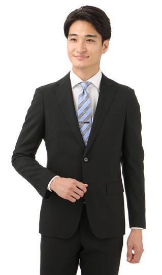 春夏用 ブラック系 【ウォッシャブル】【軽量】【サンプロテクト】【ツーパンツ】【就活】スタイリッシュスーツ PERSON'S FOR MEN