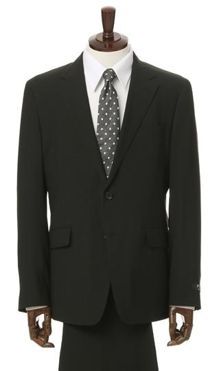 盛夏用 ブラック系 【PT-9】【2WAYストレッチ】【撥水加工】【ツーパンツ】スタイリッシュスーツ PERSON'S FOR MEN