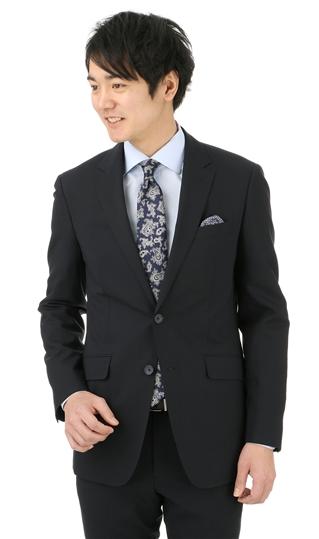 春夏用 ネイビー系 【PT-9】【2WAYストレッチ】【撥水加工】【ツーパンツ】スタイリッシュスーツ PERSON'S FOR MEN