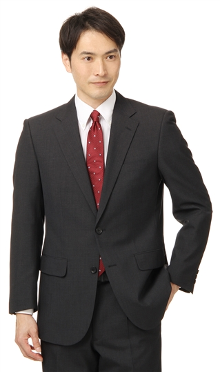 【送料無料!!】 春夏用 グレー系 スタンダードスーツ【ツーパンツ】 CHRISTIAN ORANI