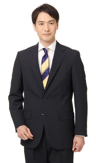 【送料無料!!】 春夏用 ネイビー系 スタンダードスーツ【ツーパンツ】 CHRISTIAN ORANI