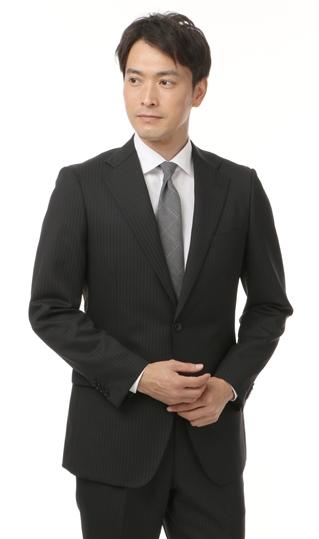 秋冬用 ブラック系 スタンダードスーツ【ツーパンツ】 CHRISTIAN ORANI BLACK LABEL