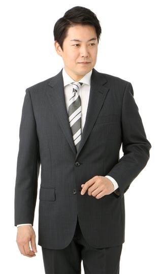 春夏用 グレー系 【撥水・撥油】【形状記憶】【ツーパンツ】スタンダードスーツ REGAL