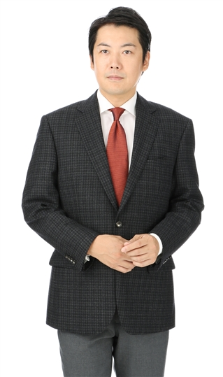 秋冬用 ブラック系 【チェック】【ウール100%】スタンダードジャケット REGAL