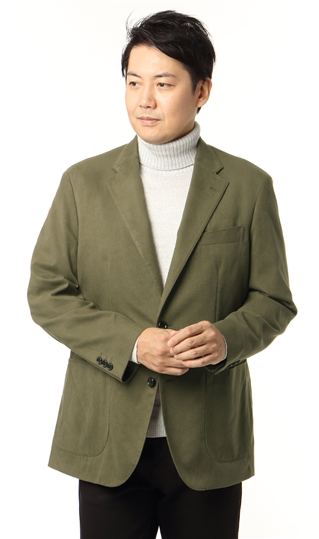 秋冬用 グリーン系 ソフトジャケット【スエード調】 YUKI TORII HOMME