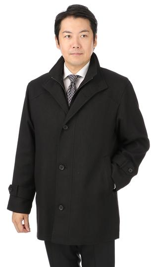 秋冬用 ブラック系 【合繊】【レイヤード】【スタンドカラー】スタンダードコート COSTARE