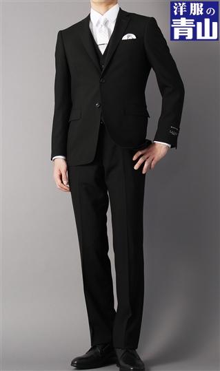スリーシーズン用 ブラック系 シングル スリーピース スタイリッシュフォーマル PAZZO collection スーツ メンズ メンズスーツ メンズ スリーピース 3ピース 三つ揃え ビジネス スーツ スリム シルエット 背広