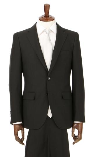 スリーシーズン用 ブラック系 シングル スタイリッシュフォーマル PERSON'S ブラックスーツ 安心の定価販売 礼服 FOR MEN 国産品 喪服