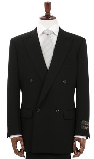 サビルロゥ サビルロー サビルロウ 送料無料 スリーシーズン用 ブラック系 プレミアム ダブル スタンダードフォーマル メンズ フォーマル Savile Row スーツ フォーマルスーツ 黒 結婚式 予約販売品 売店 ブラックフォーマル