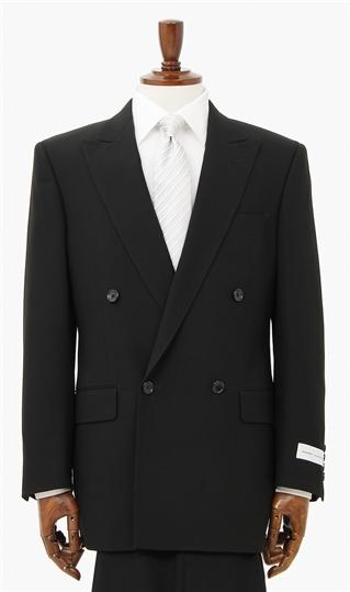 スリーシーズン用 ブラック系 ダブル スタンダードフォーマル(トール) KANSAI FORMAL メンズ スーツ メンズスーツ 礼服 フォーマルスーツ ブラックスーツ 黒系 大きいサイズ トールサイズ