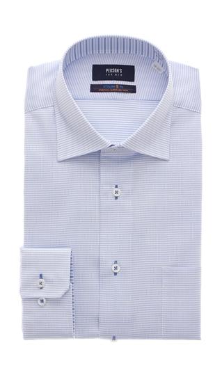 オールシーズン用 本日限定 激安卸販売新品 ブルー系 ワイドカラースタイリッシュワイシャツ Variex MEN PERSON'S FOR