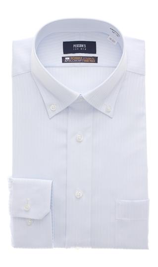 オールシーズン用 ブルー系 ボタンダウンスタイリッシュワイシャツ NON 国内在庫 MEN FOR IRONMAX PERSON'S 全国どこでも送料無料