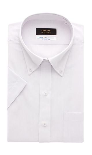 盛夏用 パープル系 好評受付中 ボタンダウンスタイリッシュワイシャツ 期間限定お試し価格 半袖 タックアウト CHRISTIAN ORANI BROWN LABEL