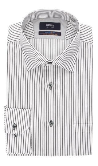 オールシーズン用 グレー系 ワイドカラースタイリッシュワイシャツ MEN PERSON'S 新商品 FOR 限定特価