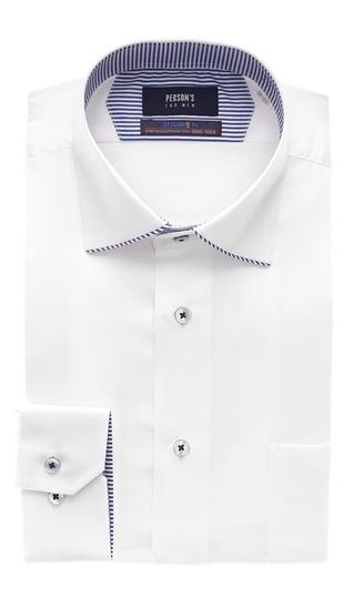 オールシーズン用 割引も実施中 ホワイト系 ワイドカラースタイリッシュワイシャツ MEN FOR 送料無料 激安 お買い得 キ゛フト PERSON'S