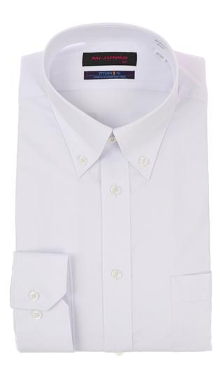 モデル着用&注目アイテム オールシーズン用 パープル系 ボタンダウンスタイリッシュワイシャツ Mr.JUNKO 気質アップ II世