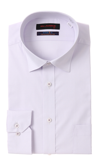 オールシーズン用 新品未使用正規品 パープル系 ワイドカラースタイリッシュワイシャツ II世 ラッピング無料 Mr.JUNKO